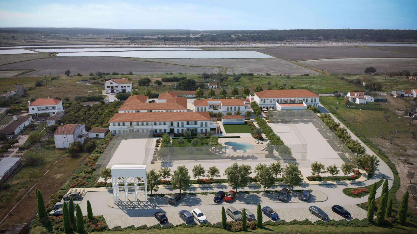 aerial view of a rehabilitation investment project in Alcacer Portugal